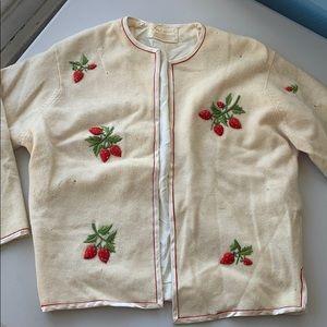 Sweaters - Vintage strawberry cardigan